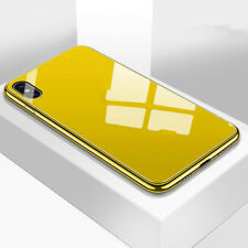 Para iPhone XS Max XR claro vidrio templado con una funda rígida posterior Chapado TPU cubierta de parachoques