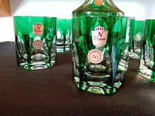 Nachtmann, ANTIKA, grün, Whiskykaraffe und 6 Gläser, nahezu neuwertiger Zustand