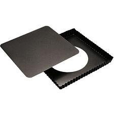 Paderno  Tourtière cannelée | Moule à tarte carré amovible cannelé 23x23cm anti-