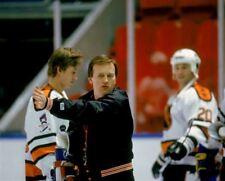 Jean Perron, Wayne Gretzky All Stars NHL Rendez-vous '87 8x10 Photo