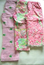 Lilly Pulitzer Girls 6/6x Retired Pattern Pants Turtle Patchwork Lillies EUC/VGC