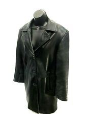 Marc New York Soft Leather Vented Blazer Jacket Womens Size M Medium Black Coat