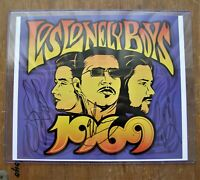 Los Lonely Boys Signed 1969 Flat Autographed