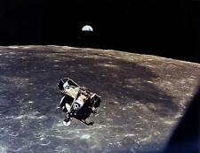 Apollo 11 Moon Earth NASA art print picture Lunar Module flight FREE BONUS PHOTO