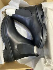 raid chelsea boots size 4 wide fitting  radar black chunky chelsea boots new