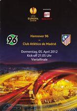 Programm | 2011-2012 | Hannover 96 v Atletico Madrid | UEFA Europa League