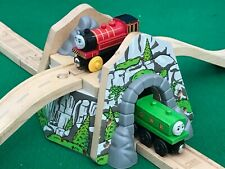 THOMAS & FRIENDS WOODEN RAILWAY OVERPASS MOUNTAIN for BRIO TRAIN toy ENGINE SET