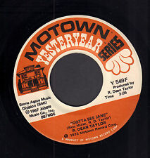 "R. DEAN TAYLOR ‎– Gotta See Jane (VINYL SINGLE 7"" MOTOWN YESTERYEAR)"