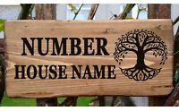 Personalised House Sign Tree of Life Plate Plaque Custom Willow Name Address