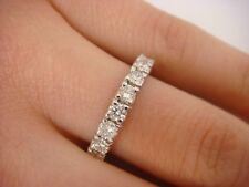 NEW! 2 CT T.W. DIAMOND ETERNITY WEDDING-ANNIVERSARY RING 14K WHITE GOLD SIZE 6