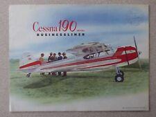 DEPLIANT PUB AVION CESSNA 190 195 BUSINESSLINER AIRCRAFT SEAPLANE FLUGZEUG