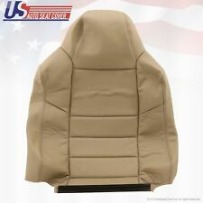 2004 2005 Ford F250 F350 Driver Top Lean Back Replacement Leather Seat Cover Tan