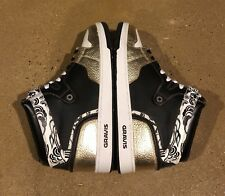 Gravis Cortex Mid Size 13 US Men's Black Gold Burton BMX DC Shoes Deadstock