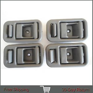 For 89-91 Suzuki Swift Inner Inside Front Rear Left Right Side Door Handle 4Pcs
