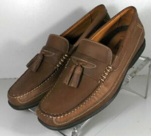 253982  MS50 Men's Shoes Size 10 M Brown Leather Loafers Johnston & Murphy