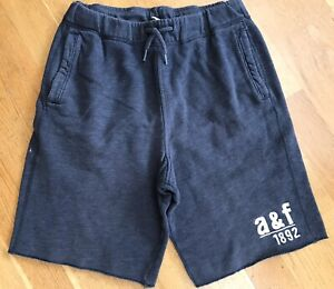 Abercrombie Kids boys track shorts pull on sweat pants in denim blue