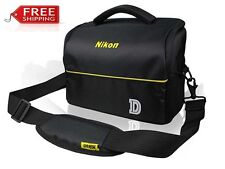 Nikon Camera Bag Case for Nikon D850 D750 D3400 D5600 Strap+Belt+Anti-Rain Cover