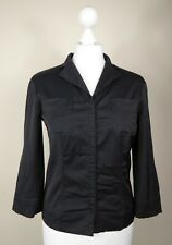 CACHAREL Vintage Black Stretch Casual Fit Woman Shiny Shirt Top Jacket Size10 S