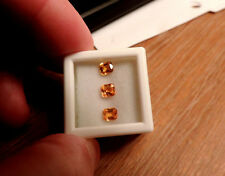 3pc Dry Cottonwood Creek Montana Natural Orange Sapphires. Cut by me :) 1.20tcw