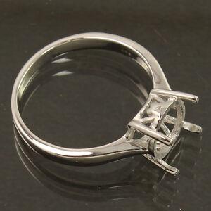 Solid 925 Sterling Silver Engagement/Wedding Semi Mount Designer Ring 9 mm Round