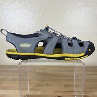 Keen Cascade CNX Sandals Mens Size 12 Gray Yellow Waterproof Outdoor Hiking