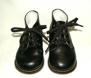 Josmo Baby Unisex Black All Leather First Walking Shoes! Style #8190  Size 6