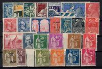 D129247/ FRANCE / SEMI MODERN LOT 1924 - 1934 MINT MNH – CV 193 $