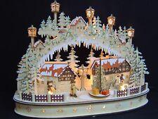 3d LED ARCOS DE LUCES arbotantes con pirámide árbol Navidad 3figuren 55x35 10290