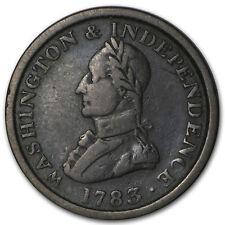 New listing 1783 Washington & Independence Large Military Bust Vf - Sku#88419