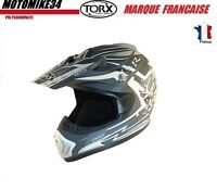 CASQUE CROSS MATE GRIS  ENDURO QUAD SCOOTER TAILLE XS Homologué  CASCO HELMET