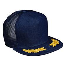 Captain Trucker Hat by LET'S BE IRIE - Blue Denim Snapback, Chief, Commander