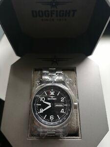 Men's Silver Steel Bracelet Watch Dogfight   Wingman  DF0065