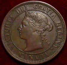 NICE GRADE 1888 LARGE 1 CENT CANADA*