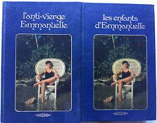"""Lot 2 livres Emmanuelle Arsan """"L'anti vierge"""" & """"Les enfants d'Emmanuelle"""""""