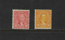 USA Scott # 590 & 591F-VF OG LH Rotary Perf 10 US Stamps