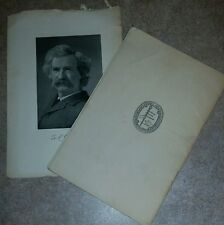 MARK TWAIN ORIGINAL PRINTING OF AN UNEXPECTED ACQUAINTANCE CIRCA 1904 COMPLETE W