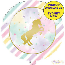 Unicorn Rainbow Birthday Party Foil Balloon Super Shape 83cm Girls Helium Air