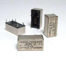 4x Siemens Print-relè v23040-c0059-b201, 4 VOLT BOBINA, NOS