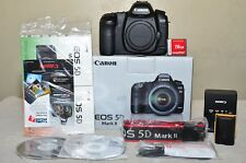 Canon EOS 5D Mark II 21.1 MP (Body Only) w/Box + Extras_ LOW CLICKS_ Excellent!!
