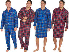 New Checked Long Sleeve Pyjama Set Mens NightShirt Lounge Nightwear Gift Idea