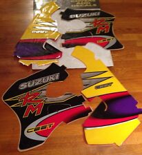 Suzuki RM125 Ceet Chrome Tank & Rad Motocross Decal Graphics Years 1996 - 1998