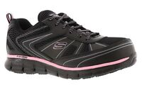 Work Black Pink Skechers shoes Women Memory Foam Slip Resistant Alloy Toe 77207