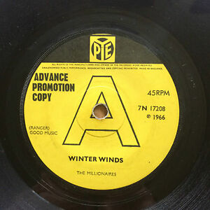 The Millionaires Winter Winds Chime Bells Promo Pye 7N 17208 EX-