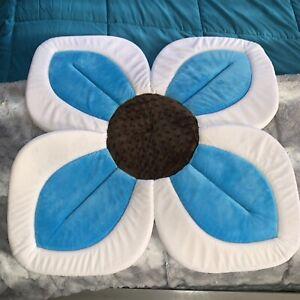 Blooming Bath Lotus Baby Bath Bathing Mat Flower Teal Blue