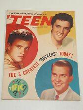 'Teen Magazine: Elvis; Ricky Nelson; Dick Clark; November 1958-RARE!