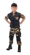 Seal Team Deluxe Military Army Soldier Uniform Halloween Dress Up Costume Large