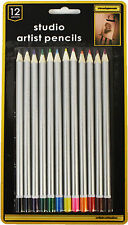 12 pack Studio Artists Pencils Pencil  Set Drawing Art Sketching etc 6373