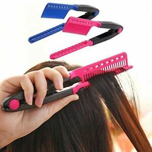 Fashion V Type Hair Straightener Comb DIY Salon Hairdressing Styling Tool UK New