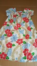 Vintage Royal Creations dress mumu red blue floral Womens medium