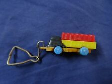 Vintage Truck Puzzle Key Chain from the 1960's Keychain key ring Red Yellow